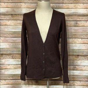 NWT Mossimo Brown Cardigan Sweater